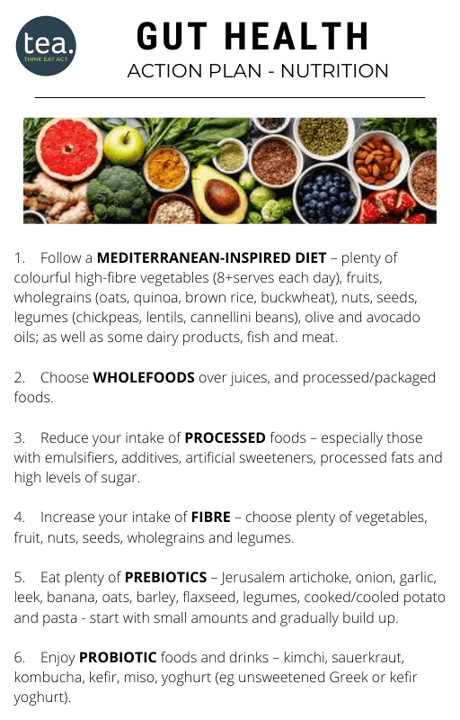 Gut Health Action Plan nutrition
